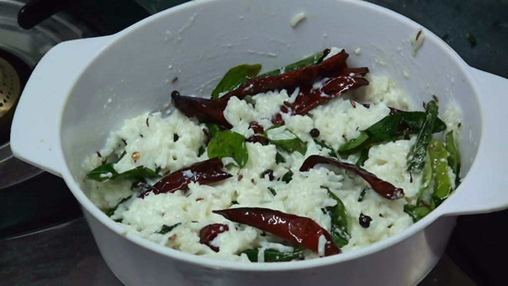 Curd Rice – Daddojanam – South Indian Recipe – Making