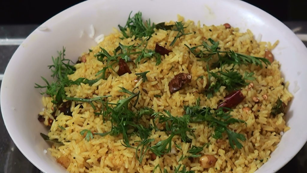 Lemon Rice Making – Yellow Rice – Indian Recipes – Talimpu Annam